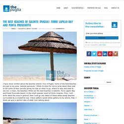 The best beaches of Puglia: Torre Lapillo Bay and Punta Prosciutto
