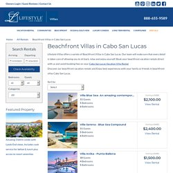 Cabo Beachfront Vacation Rentals