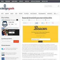 Beacon.by herramienta para crear revistas online