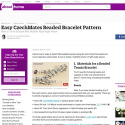 How to Make an Easy Beaded Bracelet CzechMates Beads