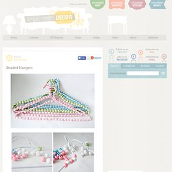 Beaded Hangers « Spearmint Decor