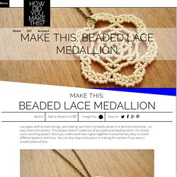 Beaded Lace Medallion