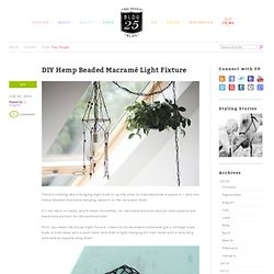 DIY Hemp Beaded Macramé Light Fixture