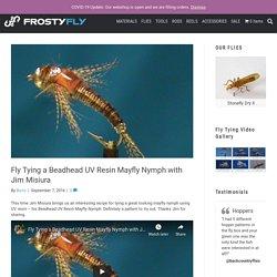 Fly Tying a Beadhead UV Resin Mayfly Nymph with Jim Misiura - FrostyFly