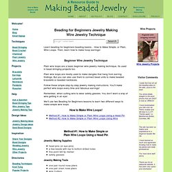 Beading for Beginners, Beading Techniques for Making Beaded Jewelry!