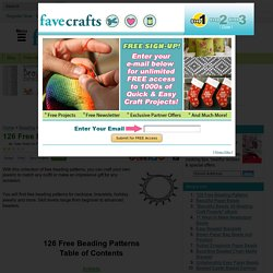 126 Free Beading Patterns