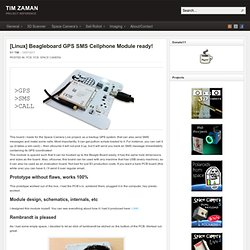 [Linux] Beagleboard GPS SMS Cellphone Module ready!