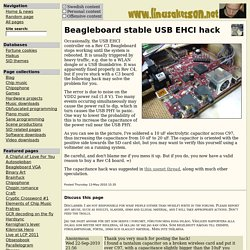 Beagleboard stable USB EHCI hack