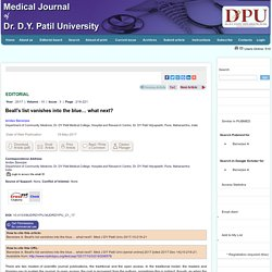 Beall's list vanishes into the blue… what next? Banerjee A - Med J DY Patil Univ