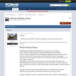 Néhány beállítás leírása - Alaplapok - PC World Segélyvonal