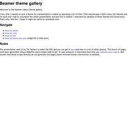 Beamer theme gallery