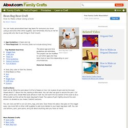 Sock Bear Craft