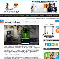 Bean : l'imprimante 3D SLA bon marché de Kudo3D !