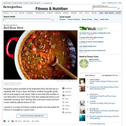 Red Bean Stew — Recipes for Health