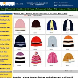 Wholesale Beanies in our China