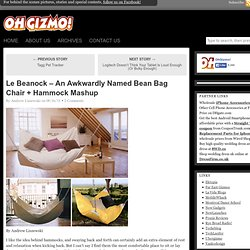Le Beanock – An Awkwardly Named Bean Bag Chair + Hammock Mashup