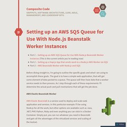 Setting up an AWS SQS Queue for Use With Node.js Beanstalk Worker Instances