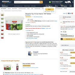 Beaphar Top 10 Cat Vitamin 180 Tablets: Amazon.co.uk: Pet Supplies