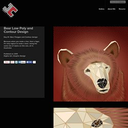 Bear Low Poly and Contour Design