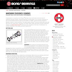 Bearing Maintenance - Support - Bones Bearings