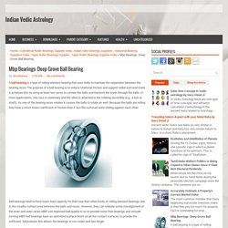 Mbp Bearings: Deep Grove Ball Bearing ~ Indian Vedic Astrology