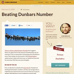 Beating Dunbars Number
