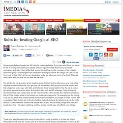 Rules for beating Google at SEO