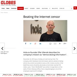 Beating the Internet censor