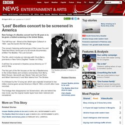'Lost' Beatles concert to be screened in America