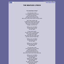 THE BEATLES LYRICS - I've Just Seen A Face