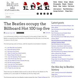 April 4th, 1964 : The Beatles occupy the Billboard Hot 100 top five