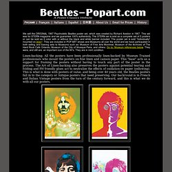 Beatles-Popart.com Original - Beatles Posters, Avedon posters, Psychodelic Beatles posters for Stern and Look
