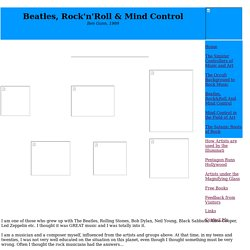Beatles, Rock'n'roll & Mind Control
