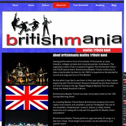 About Best Beatles Tribute Band in NY, NJ and LA, At Britishmania