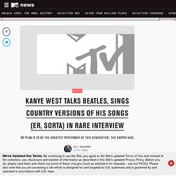 Kanye West Talks Beatles, Sings Country Versions Of His Songs (Er, Sorta) In Rare Interview