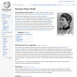 Beatrice Potter Webb 1858-1943