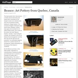 Beauce: Art Pottery from Quebec, Canada