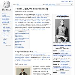 William Lygon, 7th Earl Beauchamp