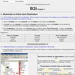 Beaurecueil B2i - Chap. 1