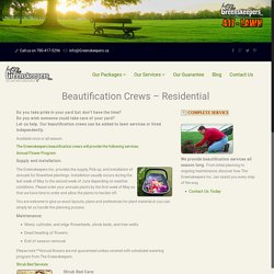 Beautification Crews - Residential