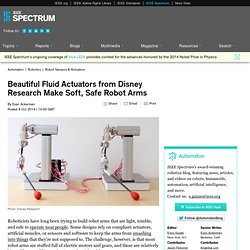 Beautiful Fluid Actuators from Disney Research Make Soft, Safe Robot Arms