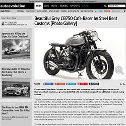 Beautiful Grey CB750 Cafe-Racer by Steel Bent Customs [Photo Gallery]