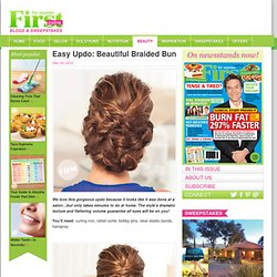 Easy Updo: Beautiful Braided Bun
