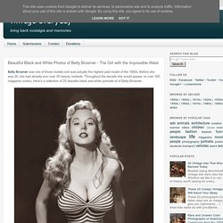 Beautiful Black and White Photos of Betty Brosmer - The Girl with the Impossible Waist