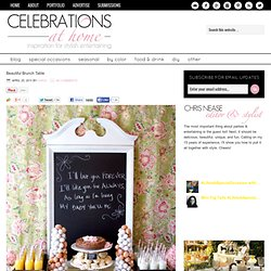 Beautiful Brunch Table — Celebrations at Home - StumbleUpon