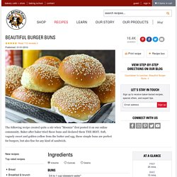 Beautiful Burger Buns Recipe