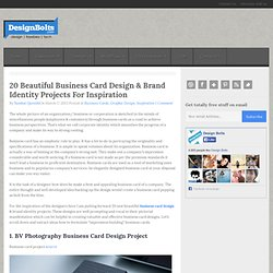 20 Beautiful Business Card Design & Brand Identity Projects For Inspiration