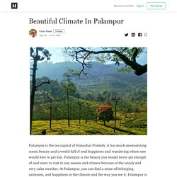 Beautiful Climate In Palampur - Kiran Parab - Medium