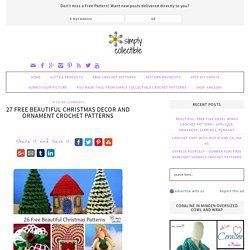 26 Free Beautiful Christmas Decor and Ornament Crochet Patterns