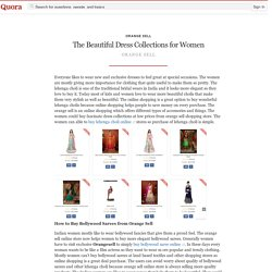 The Beautiful Dress Collections for Women - Orange Sell - Quora